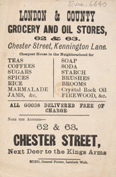 Advert for the London & County Grocery & Oil Stores 6640